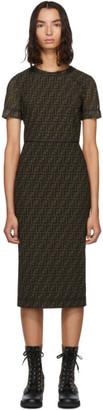 Fendi Brown Mesh Forever Dress