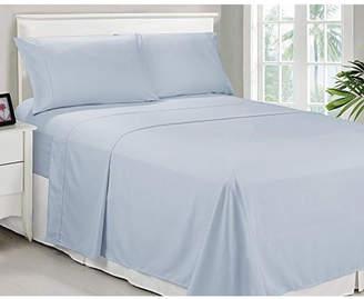 Caribbean Joe Cathay Home Inc. Microfiber Queen Solid Sheet Set Bedding