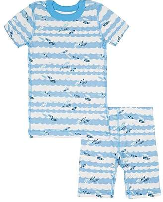 Skylar Luna Infants' Surfboard-Print Organic Cotton Pajama Set