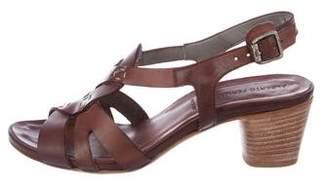 Alberto Fermani Leather Low-Heel Sandals