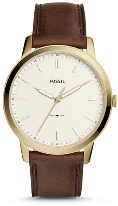 Fossil The Minimalist Three-Hand Brown Leather Watch