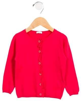 Il Gufo Girls' Knit Button-Up Cardigan