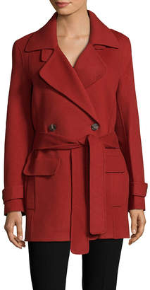 Halston Belted Wool-Blend Coat