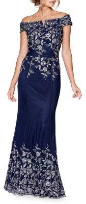 Quiz Floral Embroidered Evening Dress