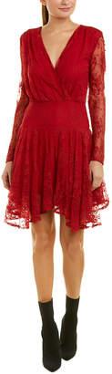 Bobi Black Lace A-Line Dress
