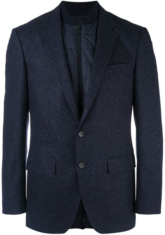 Hugo BossBoss Hugo Boss quilted inset fitted blazer