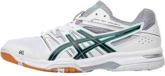 Asics Womens Gel Rocket 7 Indoor Court Shoes White/Black/Cockatoo