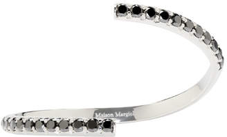 Maison Margiela Jewellery White Gold and Black Diamond Split Alliance Bracelet