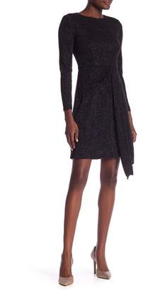 London Times Embellished Asymmetrical Dress