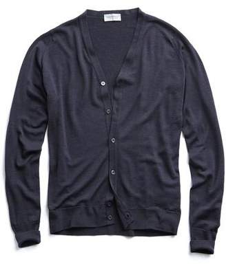 John Smedley Sweaters Easy Fit Merino Cardigan in Charcoal