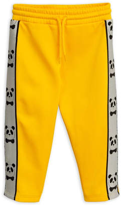Mini Rodini Yellow Panda Pants