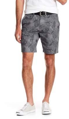English Laundry Leaf Patterned Stretch Shorts