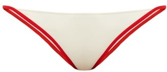 Solid & Striped The Natalie Bikini Briefs - Womens - White Multi