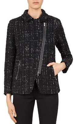 Gerard Darel Samantha Tweed Zip Jacket