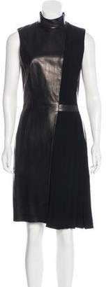 Thierry Mugler Leather Sheath Dress