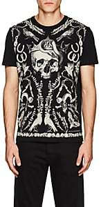 "Alexander McQueen Men's ""Treasure Skull"" Cotton Jersey T-Shirt - Black"