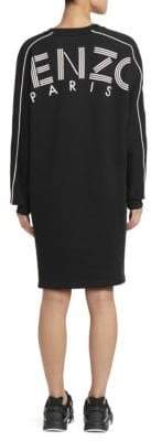 Kenzo Logo Back Sweatshirt-Dress