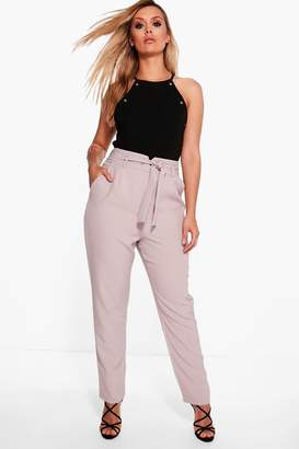 boohoo Plus High Waist Tailored Slim Fit Trouser