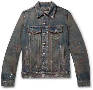 Amiri Distressed Denim Jacket