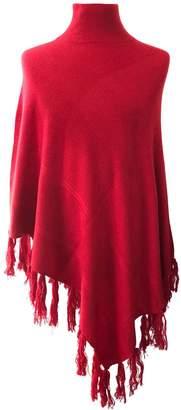 Venezia Cashmere Red Cashmere Poncho