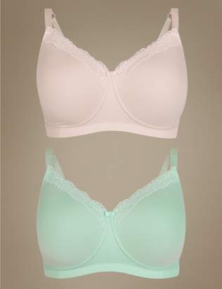 Marks and Spencer 2 Pack Cotton Rich Post Surgery Full Cup Bras A-E