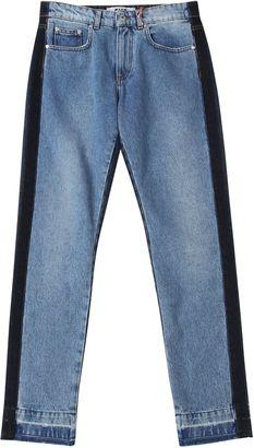MSGM Denim Two Tone Straight Leg Jeans