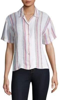Rails Women's Zuma Stripe Button-Down - Havana Stripe - Size XS