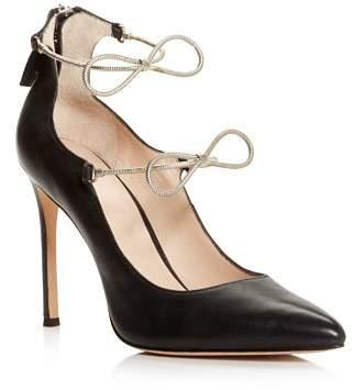 Pour La Victoire Women's Cebelle Pointed Toe Leather High-Heel Pumps