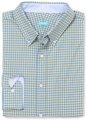 Carnegie Classic Fit Shirt in Mini Check $125 thestylecure.com