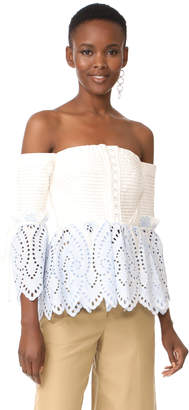 Self Portrait Off Shoulder Top $375 thestylecure.com