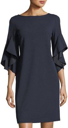 Neiman Marcus Bell-Sleeve Shift Dress $79 thestylecure.com