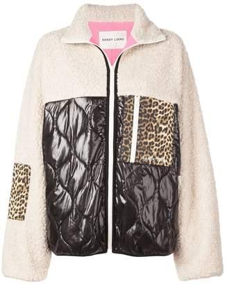 Sandy Liang faux shearling contrast jacket