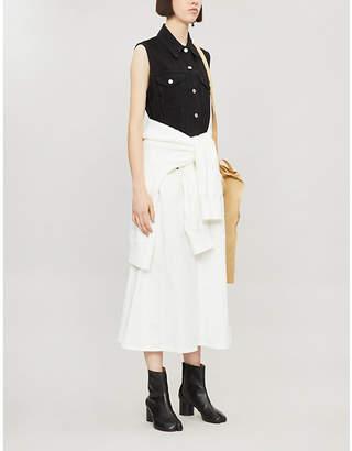 MM6 MAISON MARGIELA Contrasting-panel sleeveless straight denim midi dress