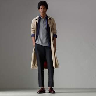 Burberry Contrast Collar Cotton Polo Shirt