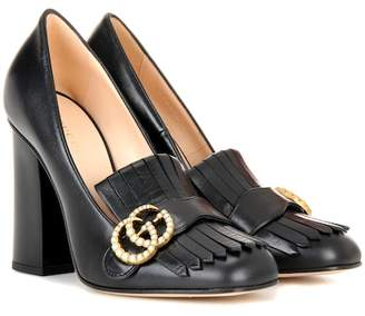 Gucci Leather loafer pumps