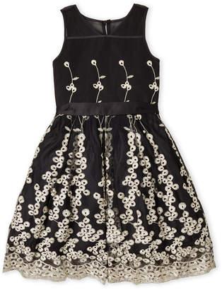 Nanette Lepore Girls 7-16) Black Embroidered Tulle Dress