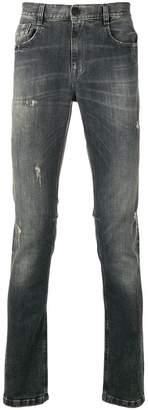 Bikkembergs distressed slim jeans