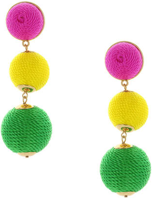 Sparkling Sage 14K Plated Ball Drop Earrings