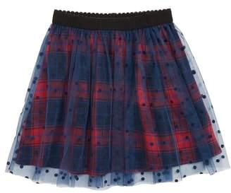Truly Me Polka Dot Plaid Tutu Skirt