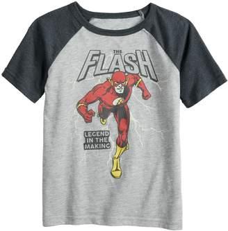 15d970f35052eb Boys 4-12 Jumping Beans DC Comics The Flash Raglan Graphic Tee