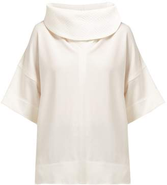 Givenchy Cowl Neck Stretch Jersey Top - Womens - White