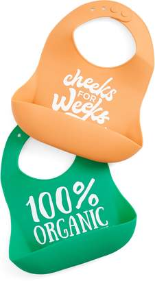 Bella Tunno Bella 100% Organic/Cheeks for Weeks 2-Pack Wonder Bib Set