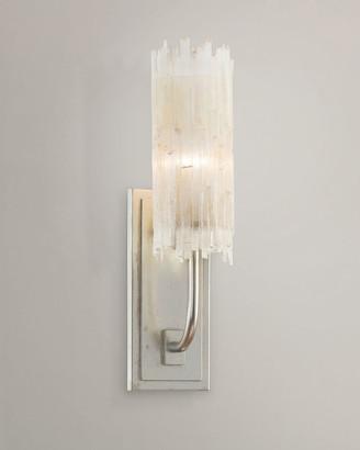 John-Richard Collection Selenite Single Wall Sconce