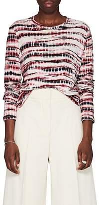 Proenza Schouler Women's Tie-Dyed Cotton T-Shirt - Burg Pat