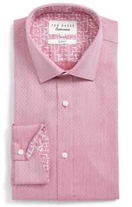Ted Baker Endurance Driss Trim Fit Geometric Oxford Dress Shirt