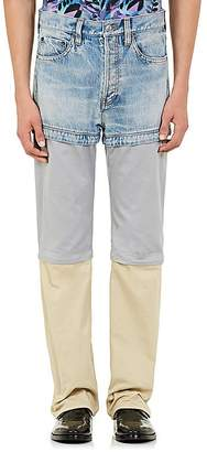 Balenciaga Men's Convertible Straight-Leg Jeans