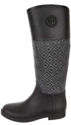 Tory Burch Rubber Knee-High Rain Boots