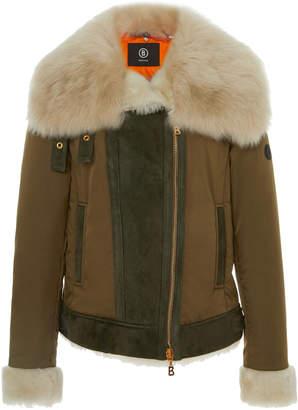 Bogner x White Cube Raffi-L Fur Trimmed Lambskin Jacket