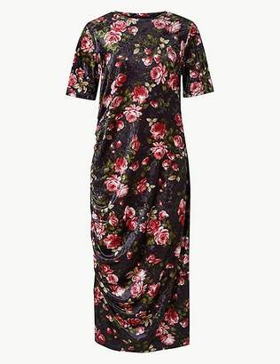 Marks and Spencer Floral Print Shift Midi Dress