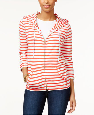 Tommy Hilfiger Striped Zipper-Front Hoodie $79.50 thestylecure.com